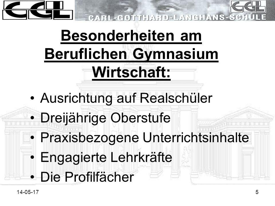Besonderheiten am Beruflichen Gymnasium Wirtschaft: