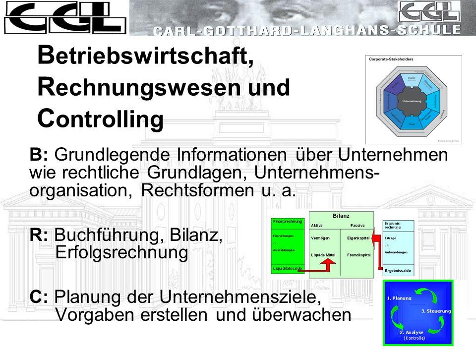 Betriebswirtschaft, Rechnungswesen und Controlling