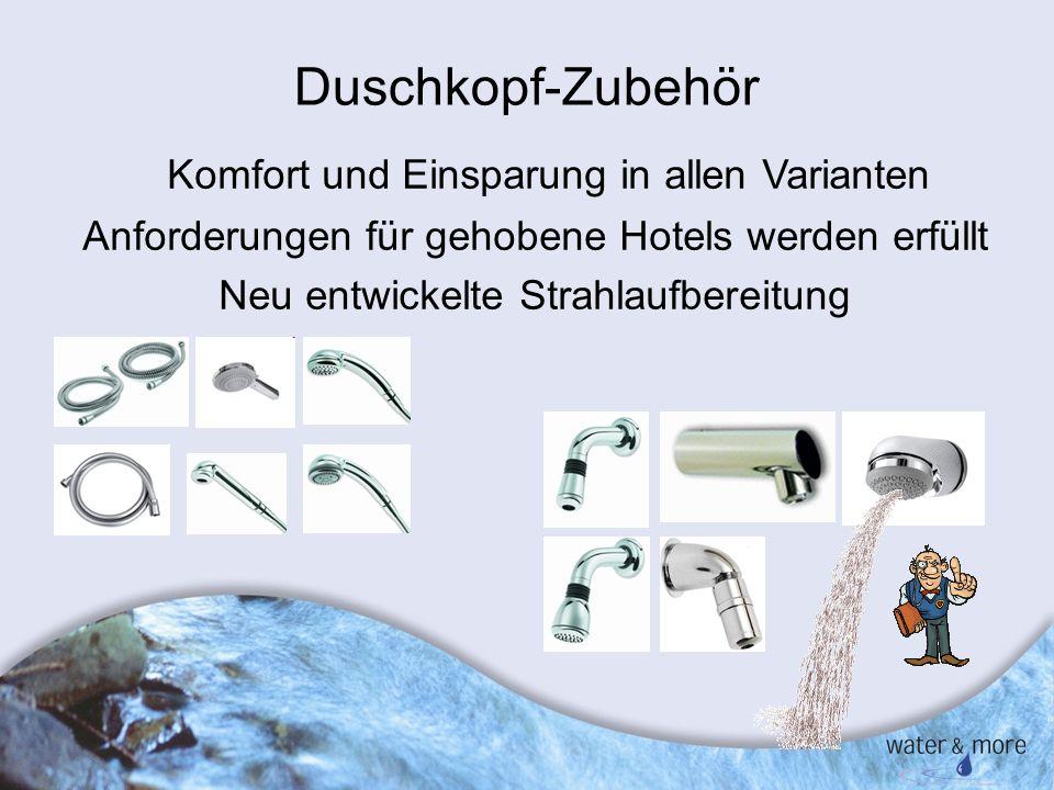 Duschkopf-Zubehör Komfort und Einsparung in allen Varianten