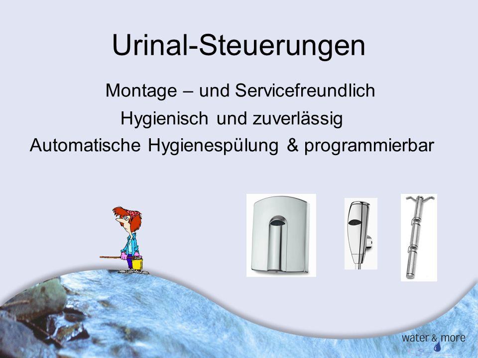 Urinal-Steuerungen Montage – und Servicefreundlich