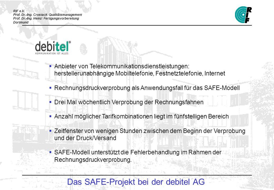 Das SAFE-Projekt bei der debitel AG