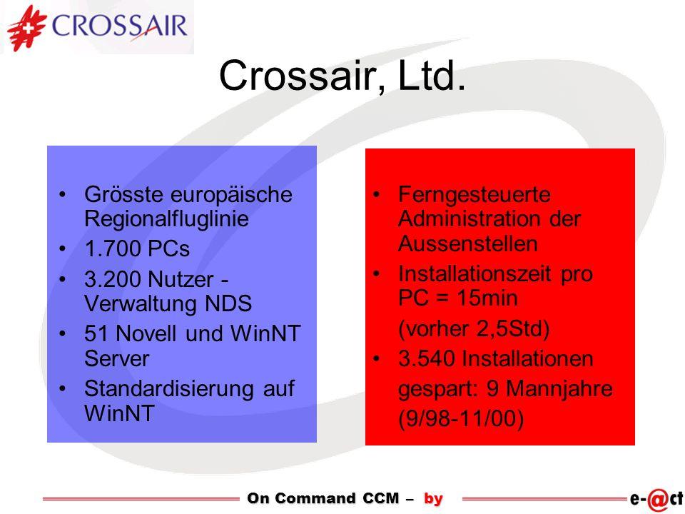 Crossair, Ltd. Grösste europäische Regionalfluglinie 1.700 PCs