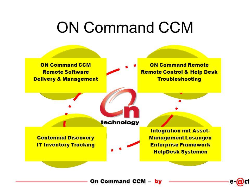 ON Command CCM On Command CCM – by ON Command CCM Remote Software