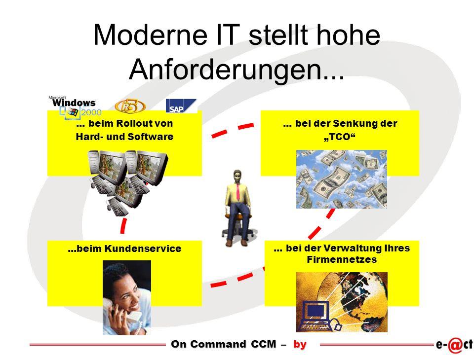 Moderne IT stellt hohe Anforderungen...