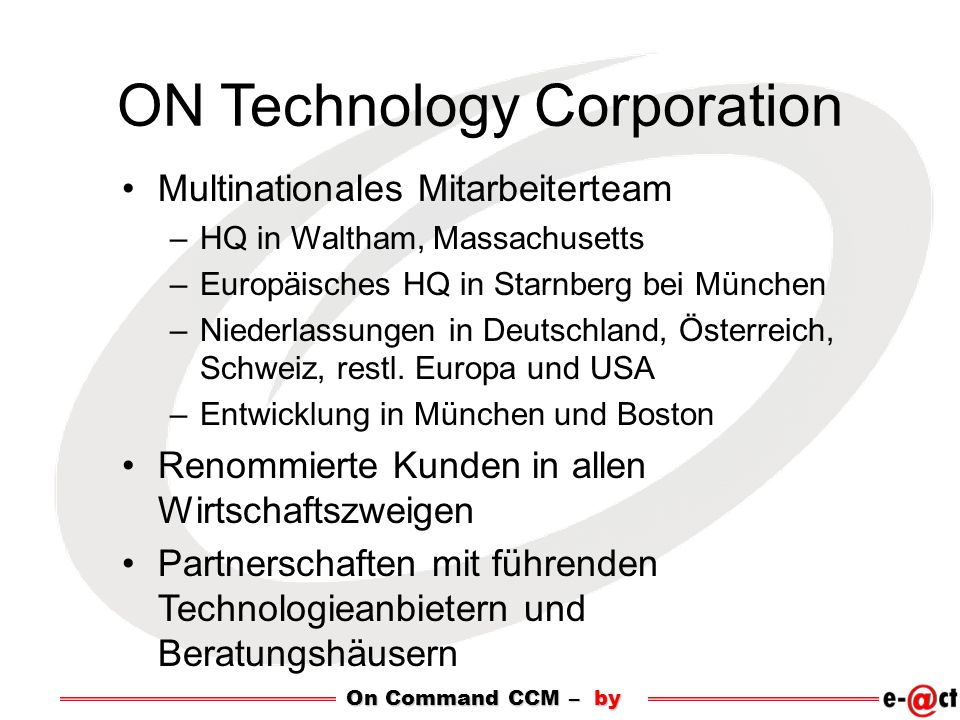 ON Technology Corporation