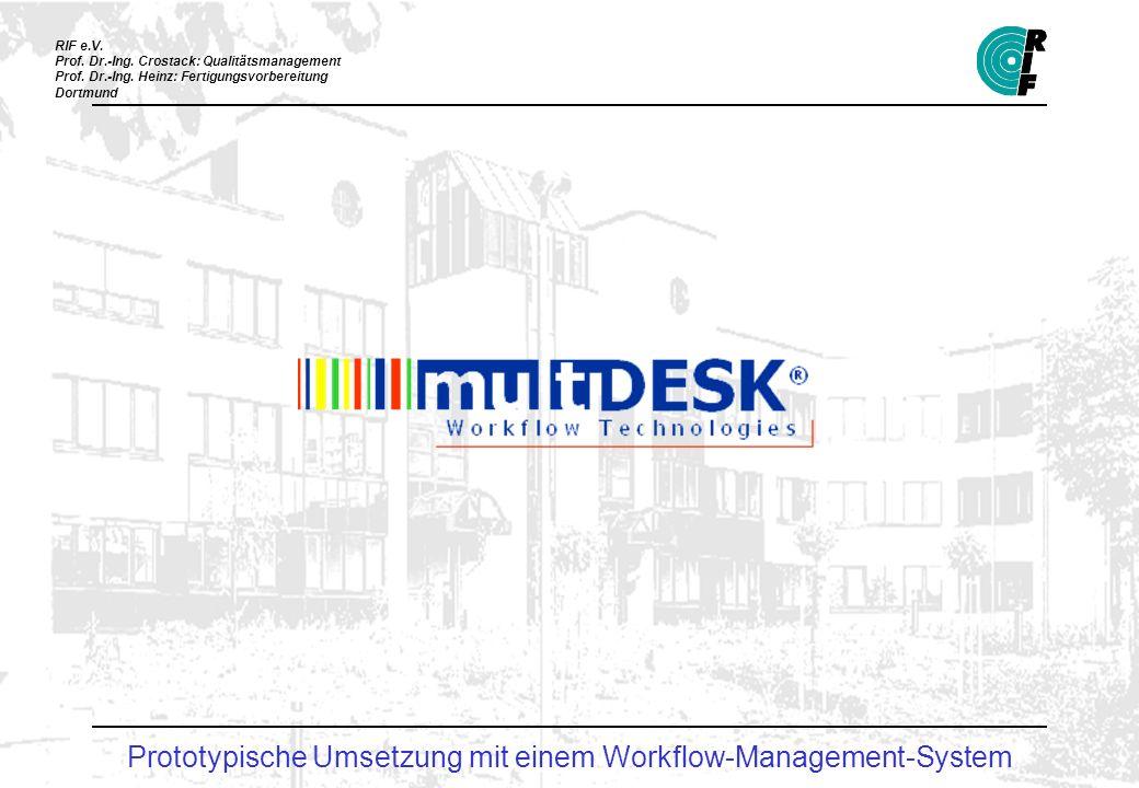 Prototypische Umsetzung mit einem Workflow-Management-System