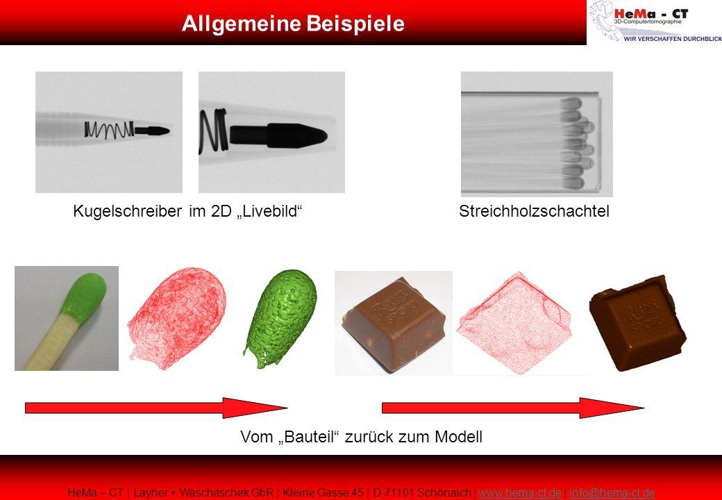 """Allgemeine Beispiele Kugelschreiber im 2D """"Livebild"""