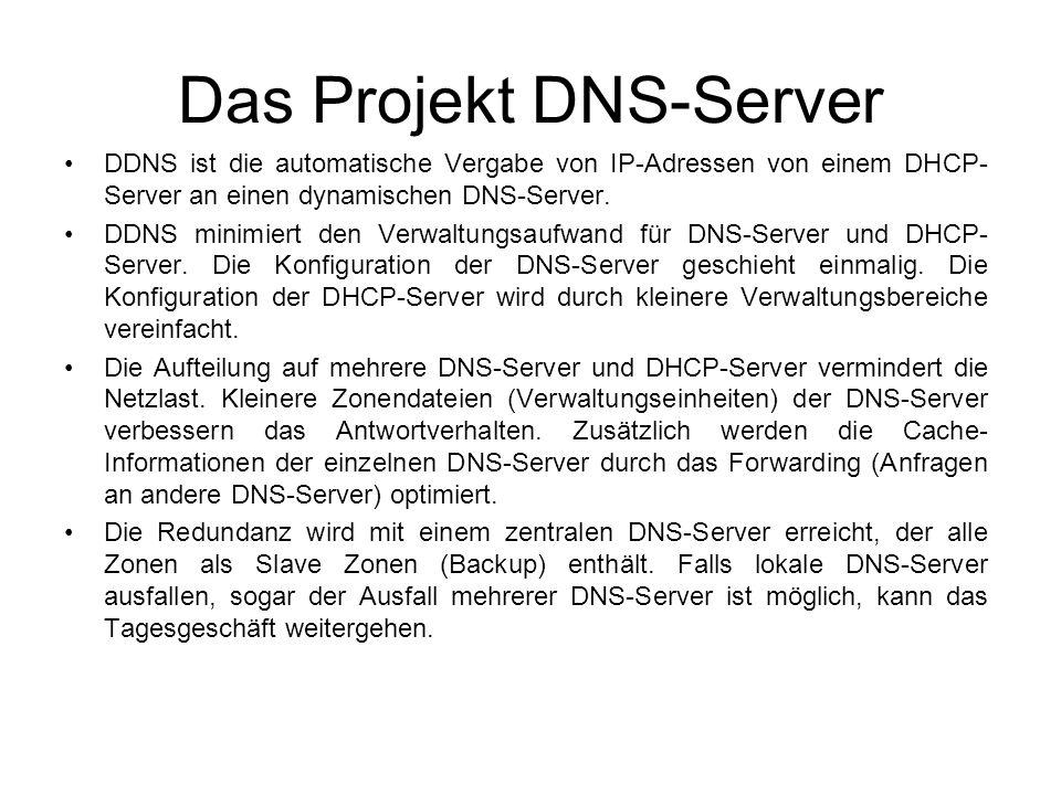 Das Projekt DNS-Server