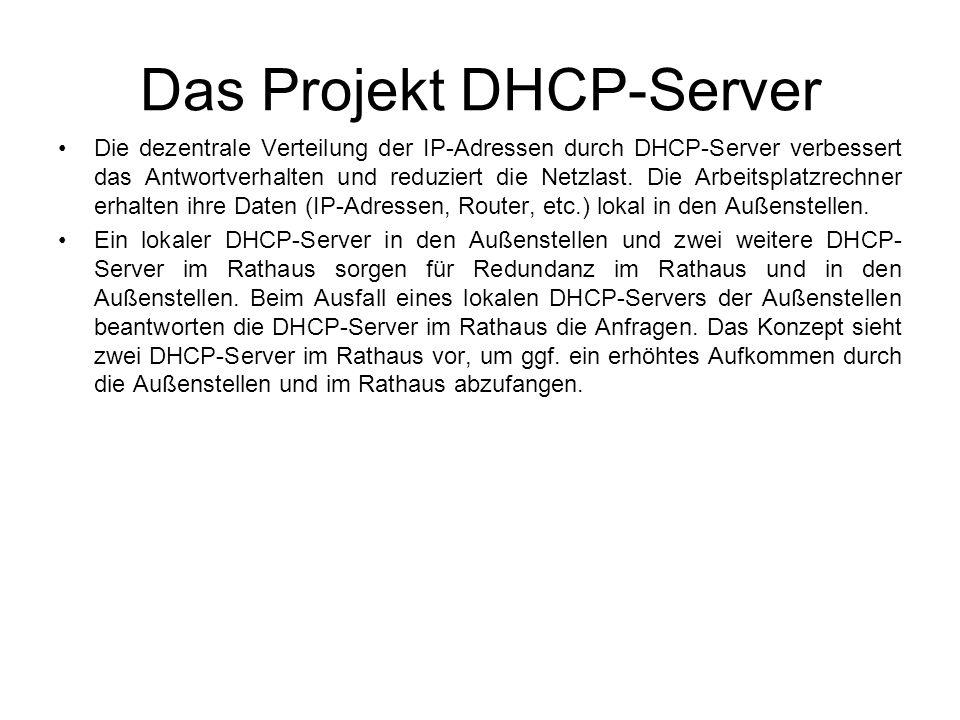 Das Projekt DHCP-Server