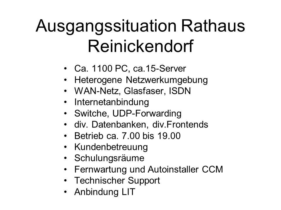 Ausgangssituation Rathaus Reinickendorf