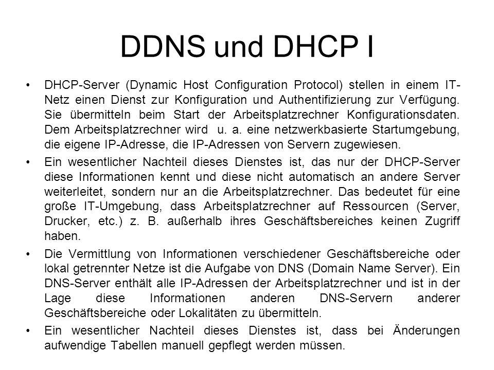 DDNS und DHCP I