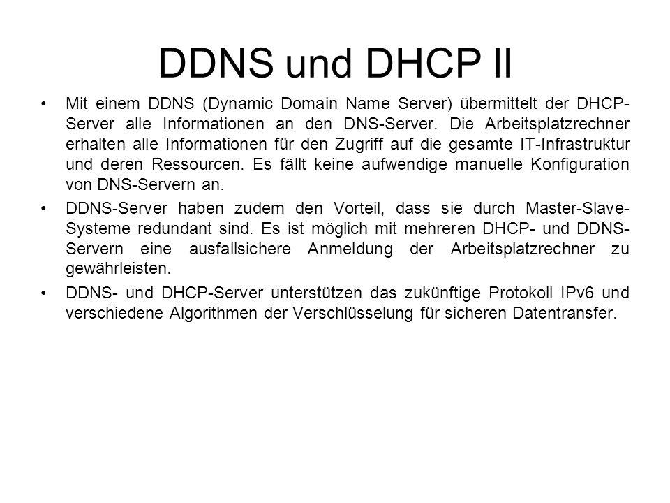 DDNS und DHCP II