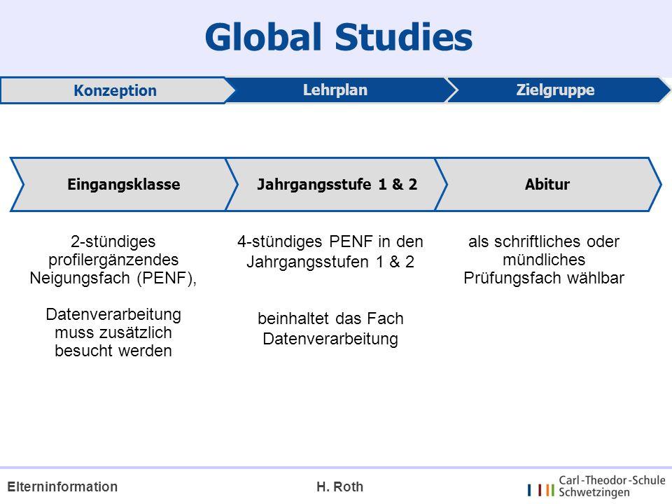 Global Studies 4-stündiges PENF in den Jahrgangsstufen 1 & 2