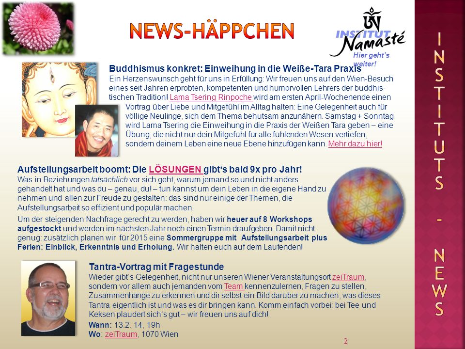 News-Häppchen Inst I tuts - news