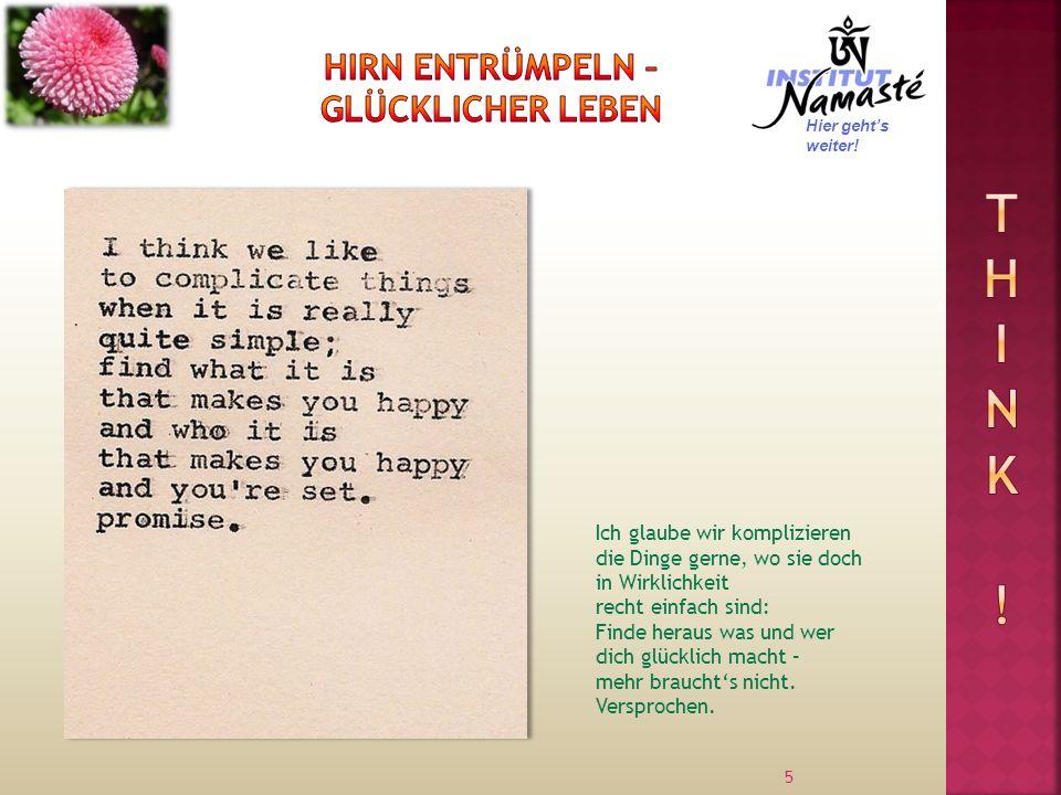 Hirn entrümpeln – glücklicher leben