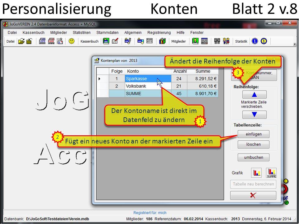 Personalisierung Konten Blatt 2 v.8