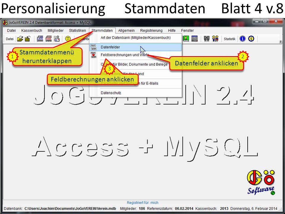 Personalisierung Stammdaten Blatt 4 v.8