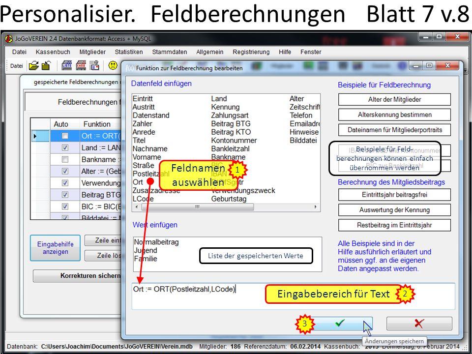 Personalisier. Feldberechnungen Blatt 7 v.8