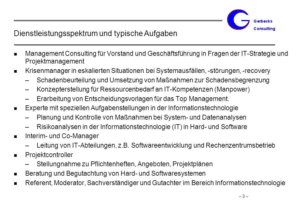 Projektbeispiele Management Consulting der Geschäftsführung eines Hosting- und Applikation Providers (SAP)