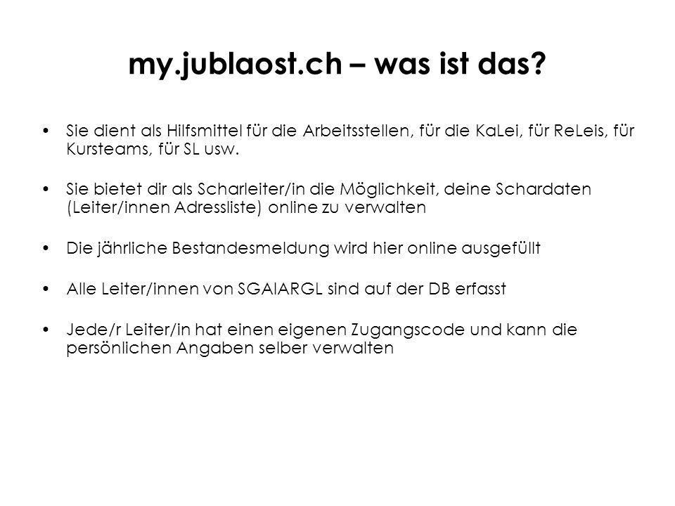 my.jublaost.ch – was ist das