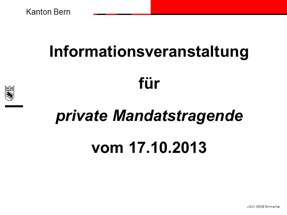 Informationsveranstaltung private Mandatstragende