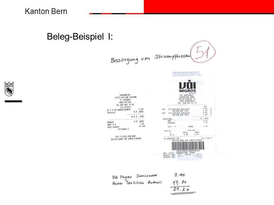 Beleg-Beispiel I: