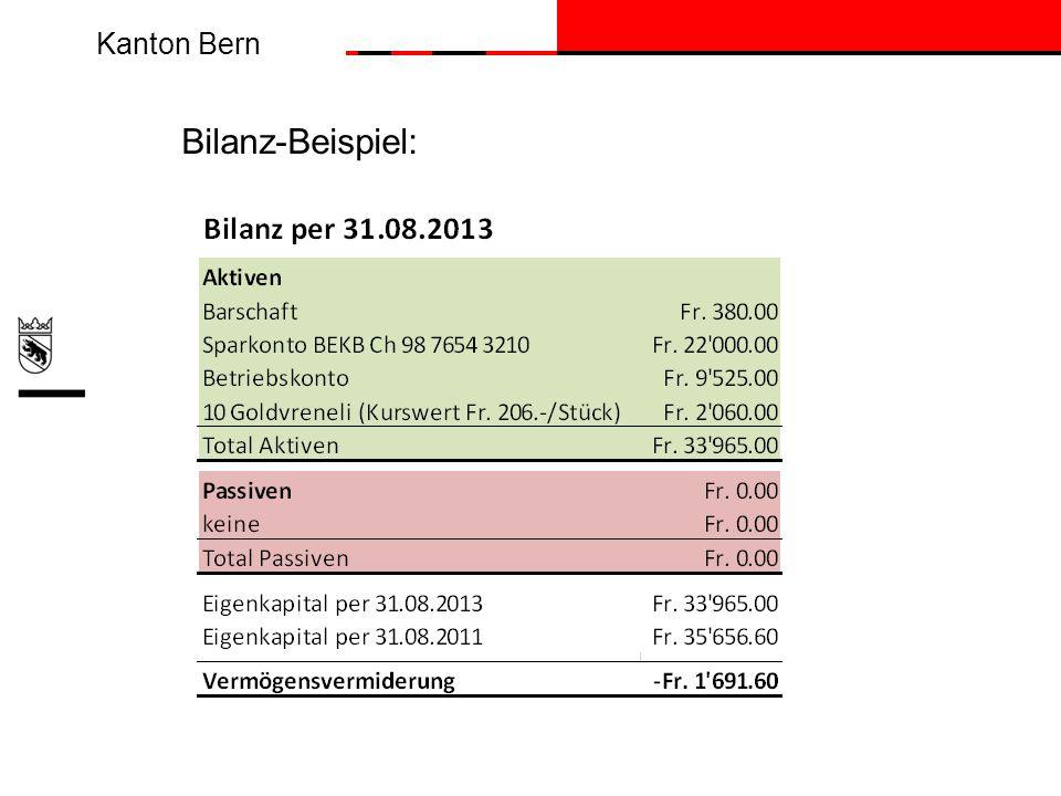 Bilanz-Beispiel: