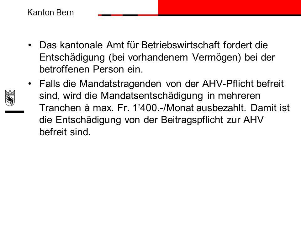 Das kantonale Amt für Betriebswirtschaft fordert die Entschädigung (bei vorhandenem Vermögen) bei der betroffenen Person ein.