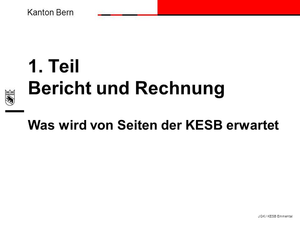 1. Teil Bericht und Rechnung Was wird von Seiten der KESB erwartet