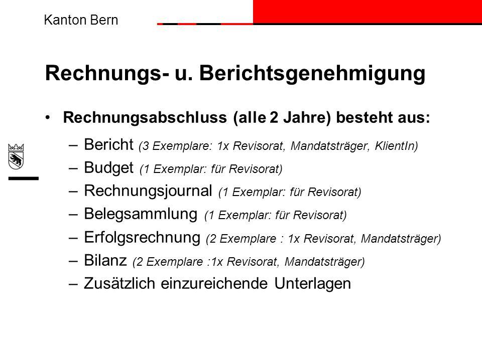 Rechnungs- u. Berichtsgenehmigung