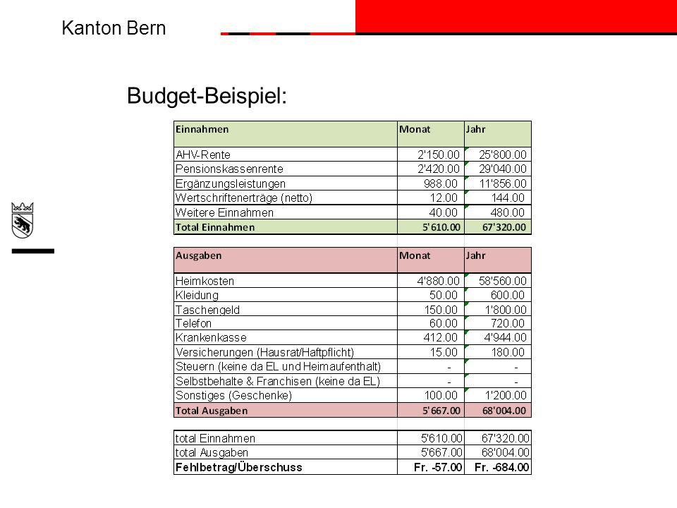 Budget-Beispiel: