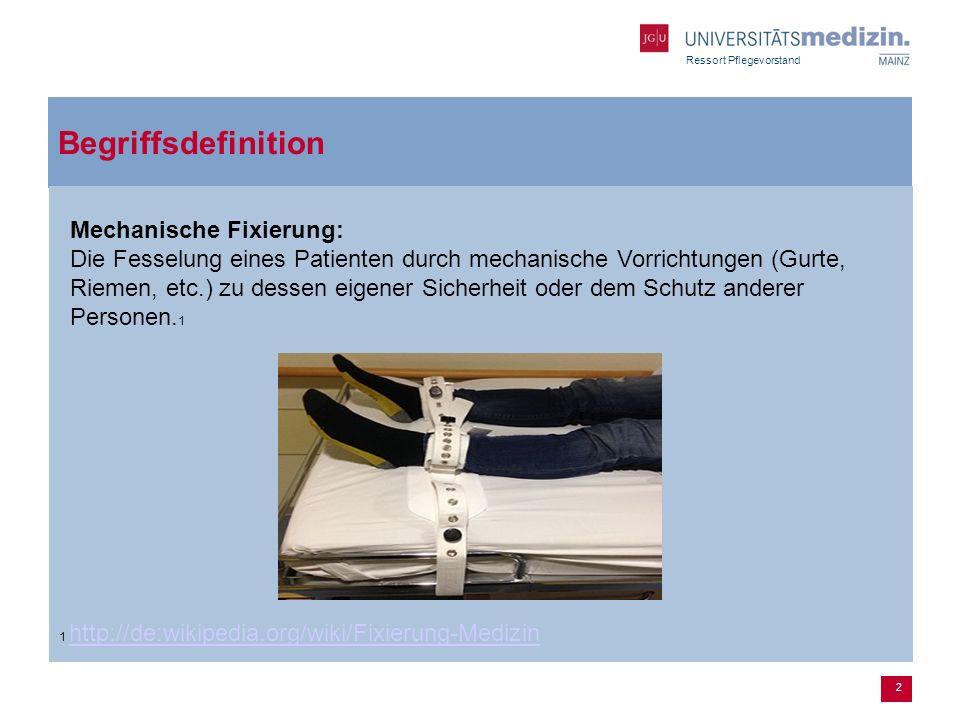 Begriffsdefinition Mechanische Fixierung: