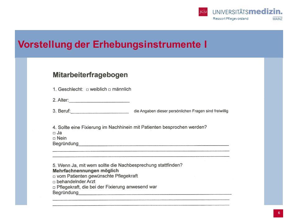 Vorstellung der Erhebungsinstrumente I