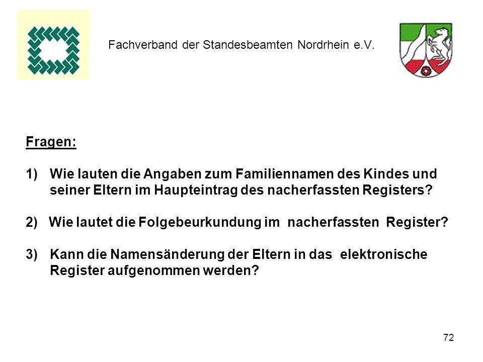 Fachverband der Standesbeamten Nordrhein e.V.