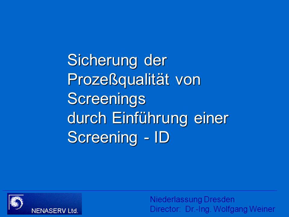 Titel Sicherung der Prozeßqualität von Screenings