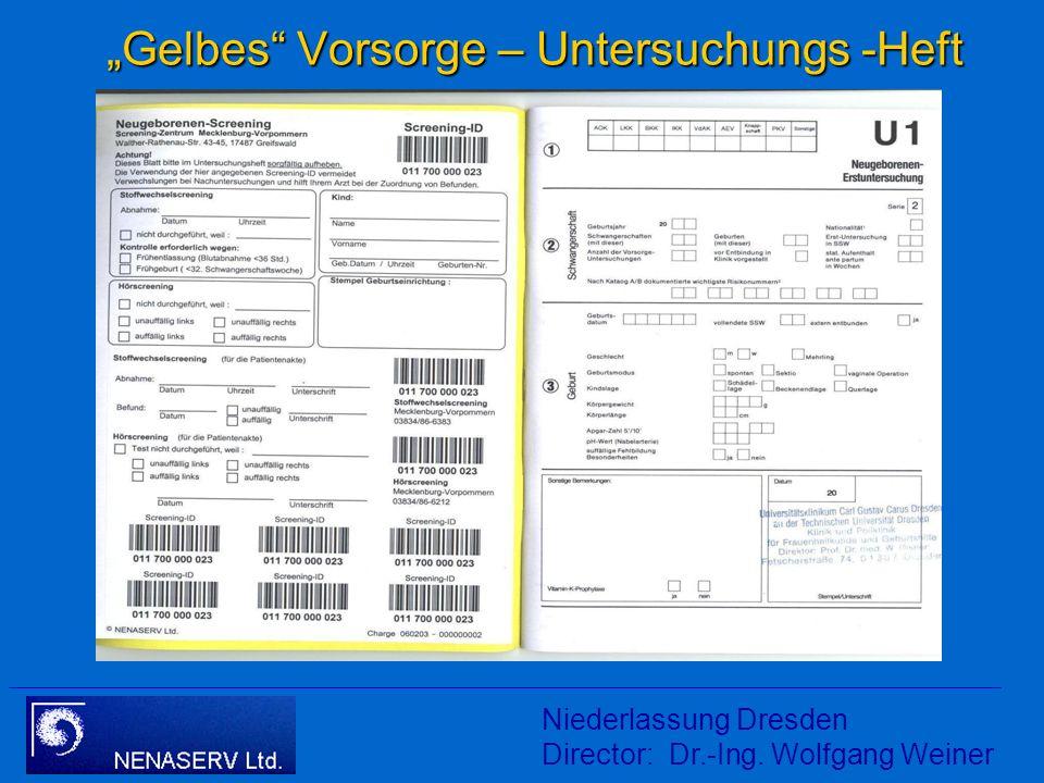 """""""Gelbes Vorsorge – Untersuchungs -Heft"""