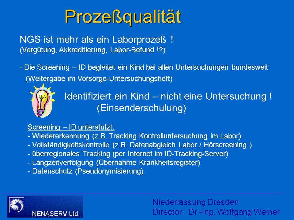 Prozeßqualität NGS ist mehr als ein Laborprozeß ! (Vergütung, Akkreditierung, Labor-Befund ! )