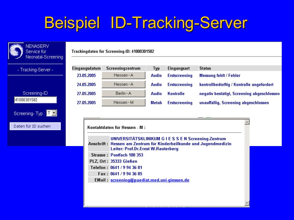 Beispiel ID-Tracking-Server