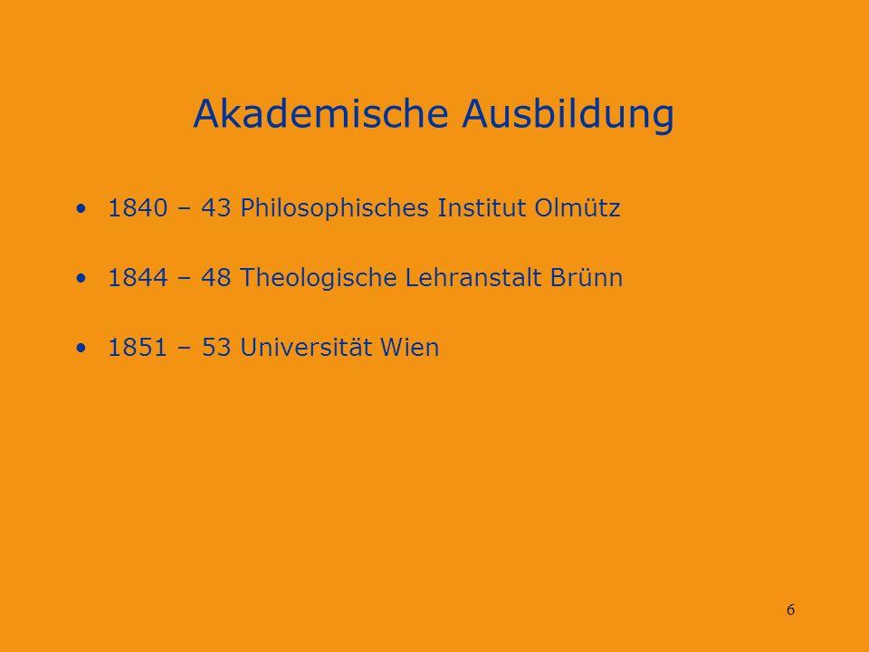 Akademische Ausbildung