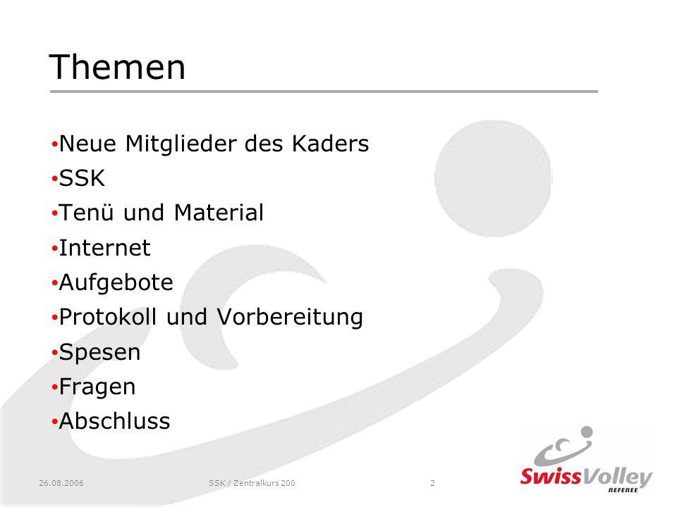 Themen Neue Mitglieder des Kaders SSK Tenü und Material Internet