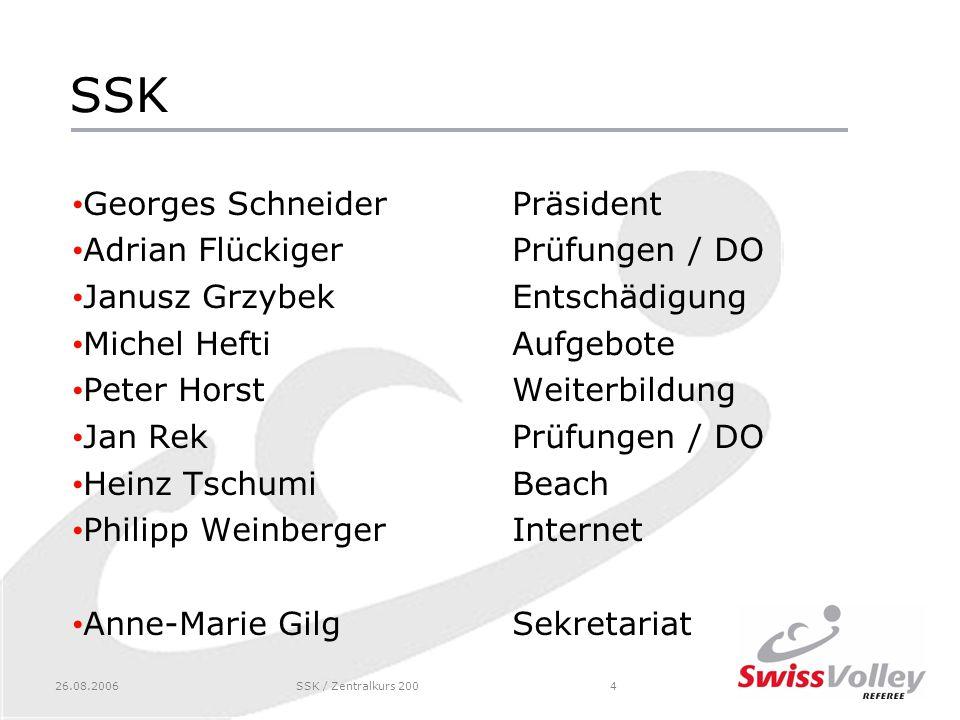 SSK Georges Schneider Präsident Adrian Flückiger Prüfungen / DO