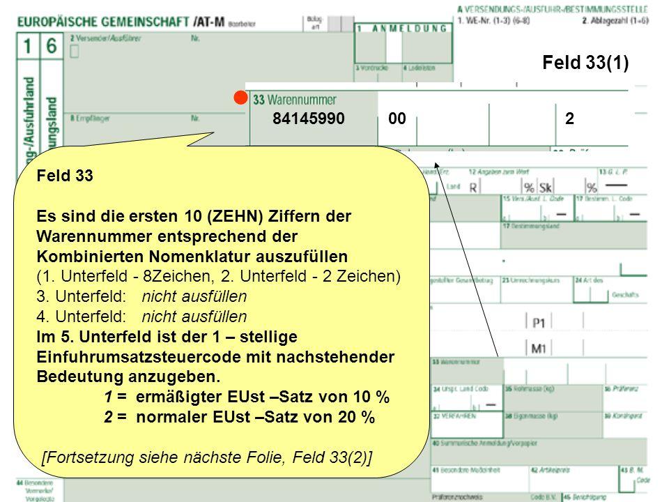 Feld 33(1)  84145990 00 2. Feld 33.