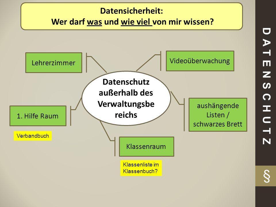 § DATENSCHUTZ Datensicherheit: