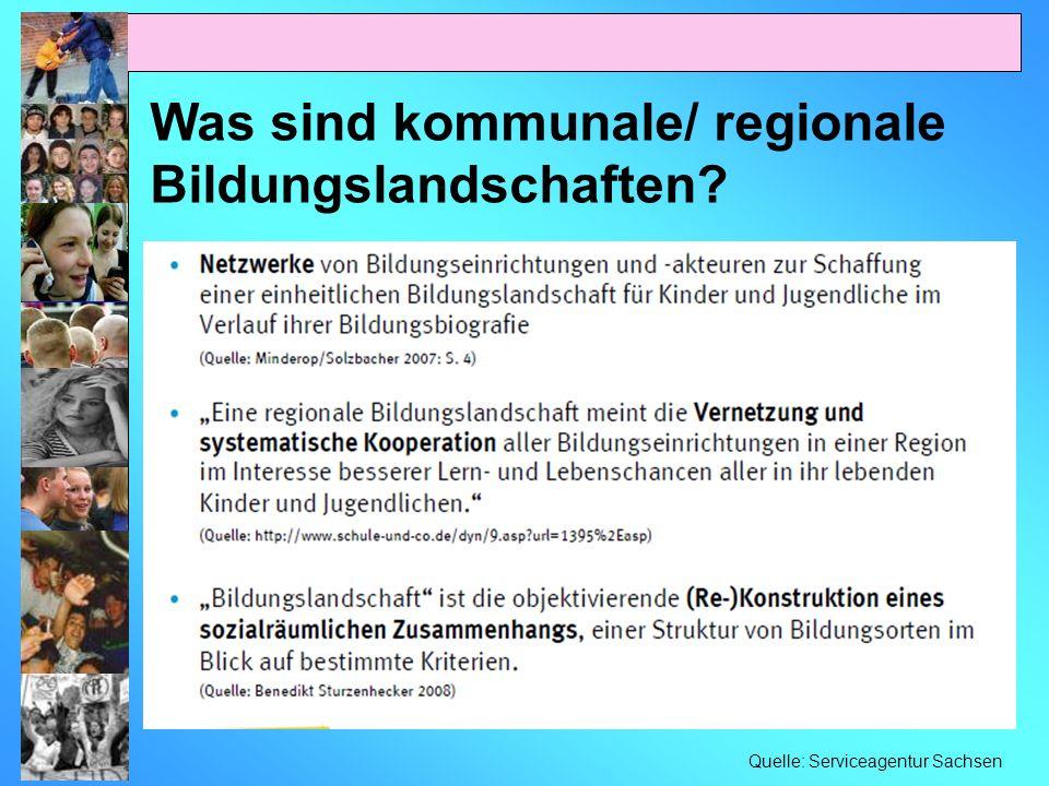 Was sind kommunale/ regionale Bildungslandschaften