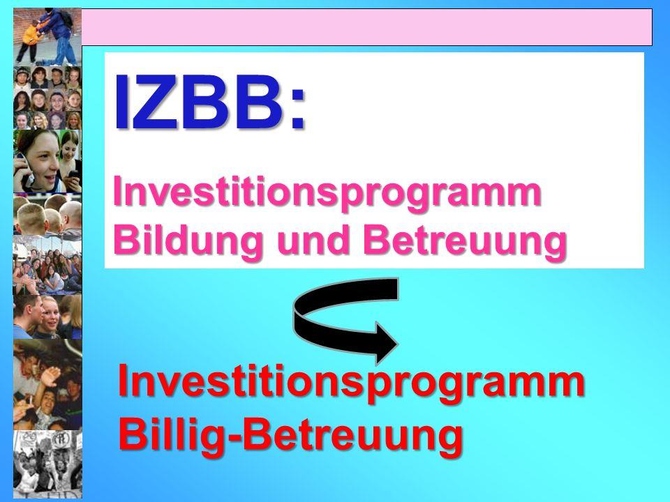 IZBB: Investitionsprogramm Billig-Betreuung
