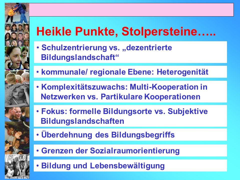 Heikle Punkte, Stolpersteine…..