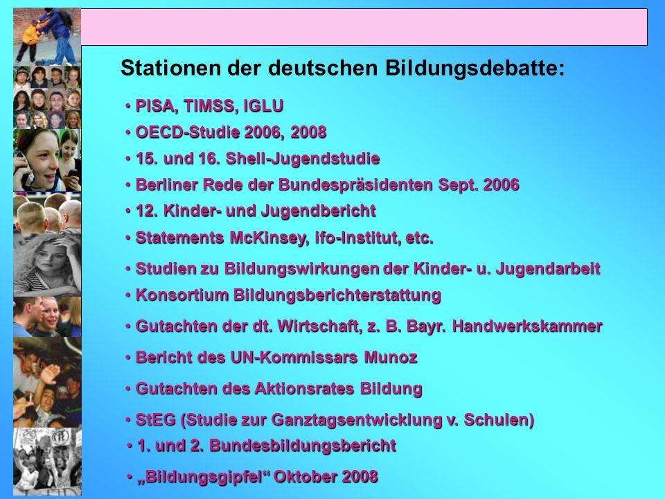 Stationen der deutschen Bildungsdebatte: