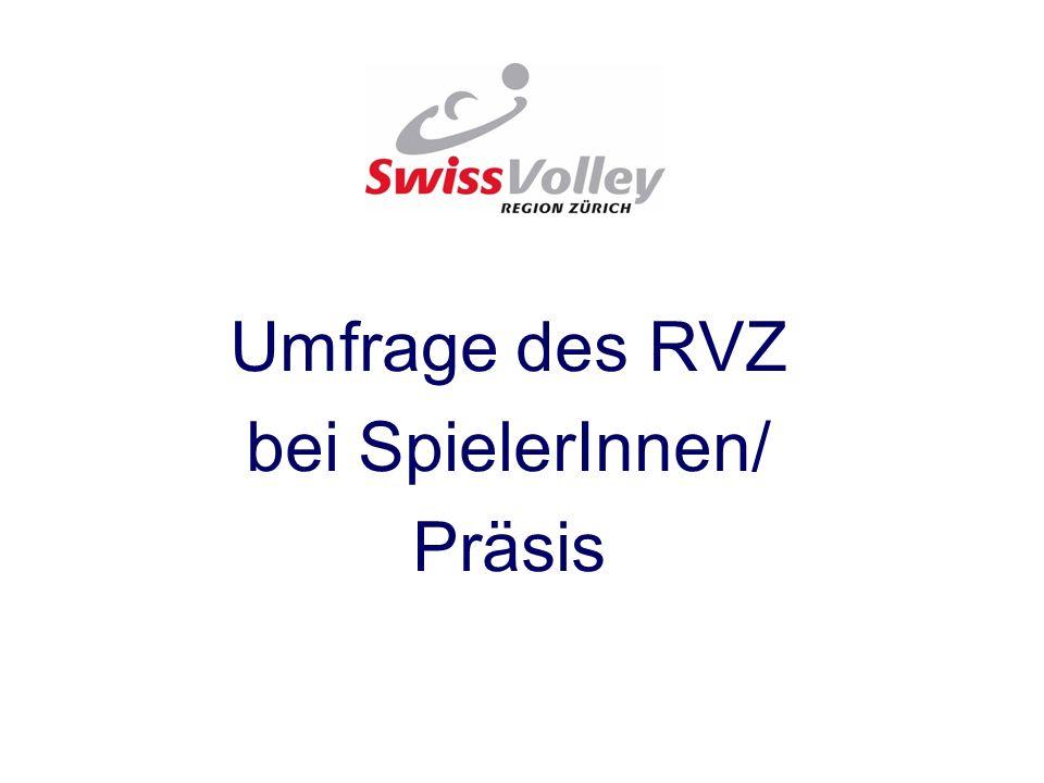 Umfrage des RVZ bei SpielerInnen/ Präsis