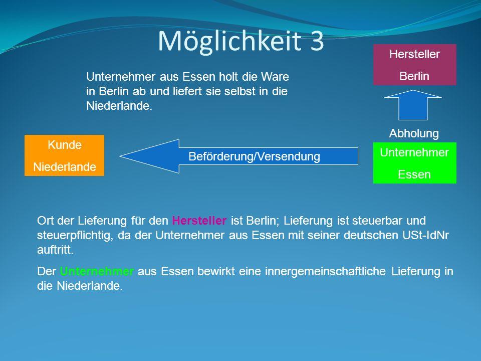 Möglichkeit 3 Hersteller Berlin