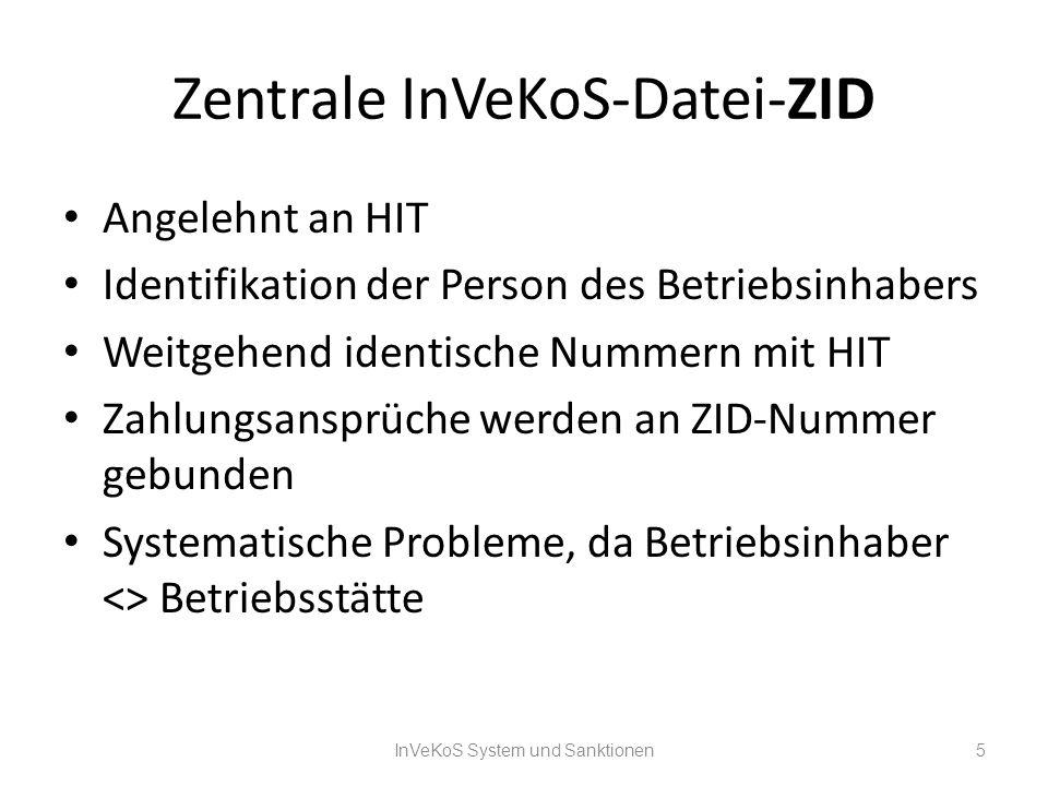 Zentrale InVeKoS-Datei-ZID
